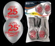 Ballon - Latex - Fantaisie - Ø30cm 25-ANS