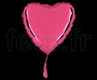 Ballon - Mylar - Coeur - Brillant - Uni - 20cm ROSE