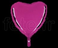 Ballon - Mylar - Coeur - Brillant - Uni - 45cm POURPRE