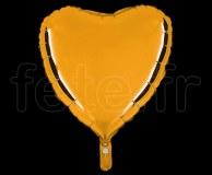 Ballon - Mylar - Coeur - Brillant - Uni - 45cm BRONZE