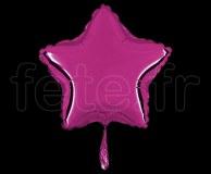 Ballon - Mylar - Etoile - Brillant - Uni - 20cm POURPRE