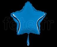Ballon - Mylar - Etoile - Brillant - Uni - 20cm BLEU