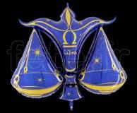 Ballon - Mylar - Bleu- Zodiaque - Balance
