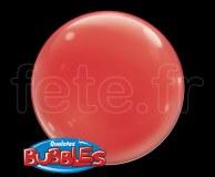 Ballon - Bubble - Unis - Sphérique - 38cm ROUGE