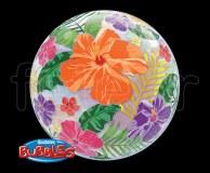 Ballon - Bubble - Fantaisy - Sphérique - 56cm FLEURS-de-TROPIQUE