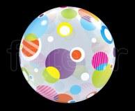 Ballon - Bubble - Fantaisy - Sphérique - 56cm POLKA