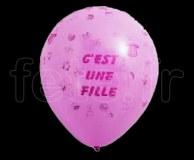 Ballon - Latex - Fantaisie - Ø30cm C'EST_une_FILLE