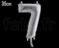 Ballon - Métal - Argent - Chiffre - H 35cm 7
