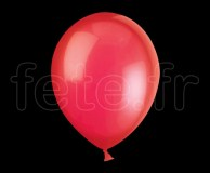 Ballon - Latex - Unis - Cristal - Ø30cm ROUGE