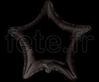 Ballon - Mylar - Etoile - Brillant - Uni - Ø 75cm NOIR