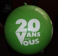 Fabrication de Ballons - Latex - 1m - Imprimé 1 ou 2 Face(s) - 1 Couleur