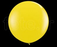 Ballon - Latex - Unis - Mat - 80cm JAUNE