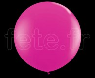 Ballon - Latex - Unis - Mat - Ø60cm FUSHIA