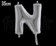 Ballon - Lettre - Métal - Argent - H35cm N