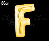 Ballon - Mylar_Or - Lettre - H 80cm F