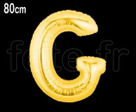 Ballon - Mylar_Or - Lettre - H 80cm G