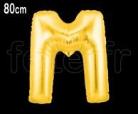 Ballon - Mylar_Or - Lettre - H 80cm M