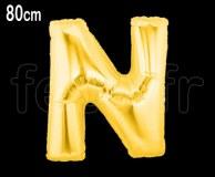 Ballon - Mylar_Or - Lettre - H 80cm N