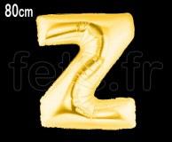 Ballon - Mylar_Or - Lettre - H 80cm Z