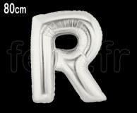 Ballon - Mylar_Argent - Lettre - H 80cm R