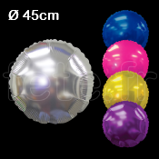 BALLON - MYLAR - ROND - 45cm