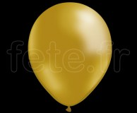 50 BALLONS - Latex - Unis - NACRE - Ø30cm OR