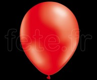 50 BALLONS - Latex - Unis - NACRE - Ø30cm ROUGE