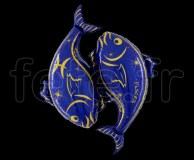 Ballon - Mylar - Bleu- Zodiaque - Poissons