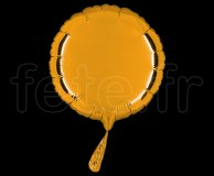 Ballon - Mylar - Rond - Brillant - Uni - 20cm BRONZE