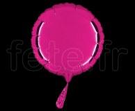 Ballon - Mylar - Rond - Brillant - Uni - 20cm FUSHIA
