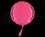Ballon - Mylar - Rond - Brillant - Uni - 20cm ROSE