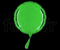 Ballon - Mylar - Rond - Brillant - Uni - 20cm VERT