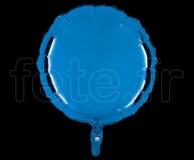 Ballon - Mylar - Rond - Brillant - Uni - 45cm BLEU