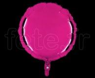 Ballon - Mylar - Rond - Brillant - Uni - 45cm FUSHIA