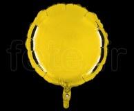 Ballon - Mylar - Rond - Brillant - Uni - 45cm JAUNE