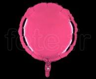 Ballon - Mylar - Rond - Brillant - Uni - 45cm ROSE