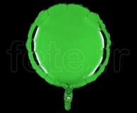 Ballon - Mylar - Rond - Brillant - Uni - 45cm VERT
