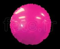 Ballon - Mylar - Rond - Brillant - Uni - Ø 75cm FUSHIA