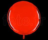 Ballon - Mylar - Rond - Brillant - Uni - 90cm ROUGE