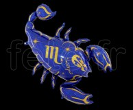 Ballon - Mylar - Bleu- Zodiaque - Scorpion