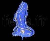 Ballon - Mylar - Bleu- Zodiaque - Vierge