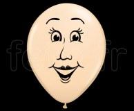 Ballon - Latex - Mat - Déco - 40cm VISAGE-FEMME