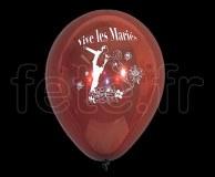 Ballon - Latex - Fantaisie - Ø30cm - (Bordeaux) VIVE-LES-MARIES