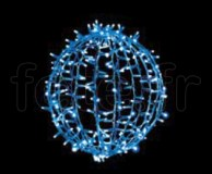 BOULES DECO - D=45cm - 200 LED Fixes - 50 Flash - 200V - 23w - BLEU