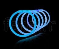 100 Bracelets - Fluo - Unicolore - Tige - 20cm X 5mm - BLEU