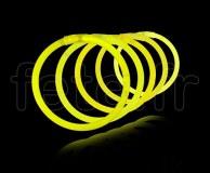 100 Bracelets - Fluo - Unicolore - Tige - 20cm X 5mm - JAUNE