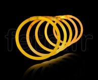 100 Bracelets - Fluo - Unicolore - Tige - 20cm X 5mm - ORANGE