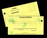CARTES - LÂCHER DE BALLONS - Pré-Imprimés et Perforées