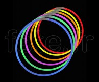 50 COLLIERS - FLUO - ULTRALIGHT - Unicolore - 56cm X 6mm - ASSORTIS