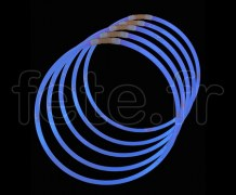 50 COLLIERS - FLUO - Unicolore - 56cm X 5mm - BLEU